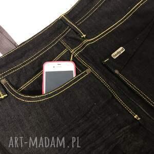 na ramię upcykling jeans duża torba