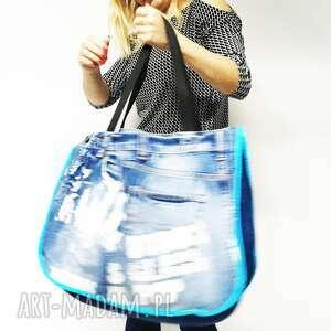 ciekawe na ramię eco torba duża upcykling jeans