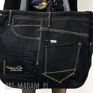 upcykling jeans duża torba