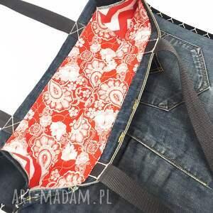 na ramię upcykling jeans duża torba 24 levi