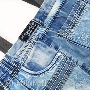 na ramię jeans duża torba upcykling
