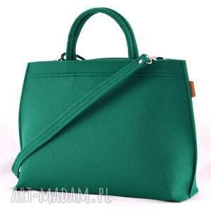 na ramię minimalizm duża torba typu kuferek w kolorze