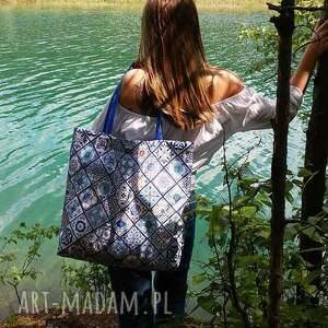 torba na ramię niebieskie duża na lato w portugalskie