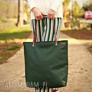 na ramię shoperbag duża torba - zieleń