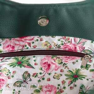 shoperbag na ramię duża torba - zieleń