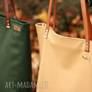 ręczne wykonanie na ramię shoperbag duża torba - beż