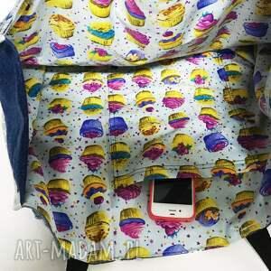 eco na ramię duża torba upcykling jeans
