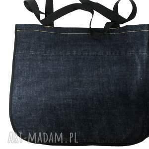na ramię jeans duża torba upcykling 36 lee