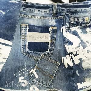 ręcznie wykonane na ramię eco duża torba upcykling jeans