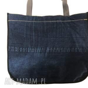eleganckie na ramię upcycling duża torba upcykling jeans 40 lee