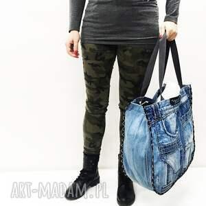 upcykling duża torba jeans