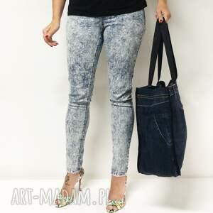jeans na ramię duża torba upcykling 36 lee