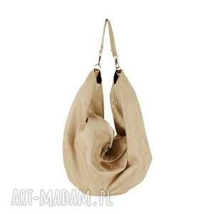 handmade na ramię voor duża torba oversize zamsz