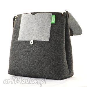 trendy na ramię kot duża torebka filcowa