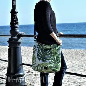 torebka na ramię duży worek xl w liście