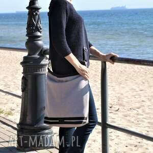 torba na ramię na duży worek xl szarobeżowa