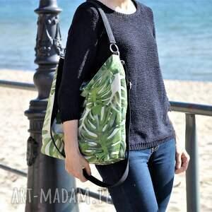 handmade na ramię torba duży worek xl w liście