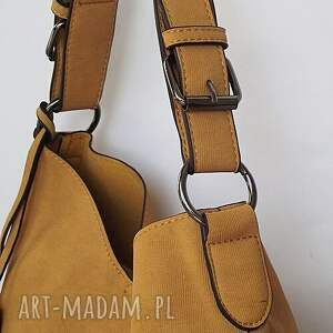 handmade na ramię torba dwie w jednej- miodowa
