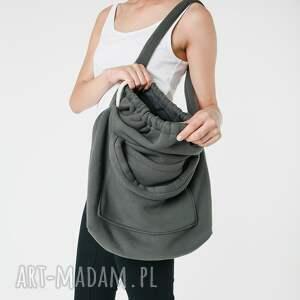 ręcznie robione na ramię dzianinowa torba worek khaki