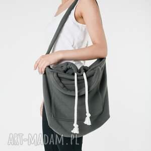 ręcznie robione na ramię worek dzianinowa torba khaki