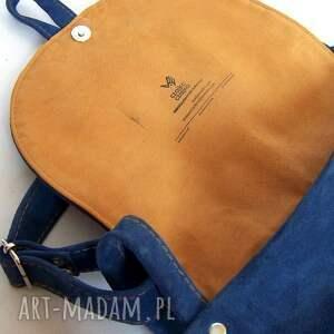 niebieskie na ramię duża dziwonia zamszowa torba