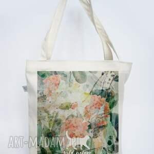 na ramię torba-plażowa eco torba z płótna - wild nature