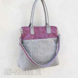 niepowtarzalne na ramię klasyczna fiella - duża torba fiolet