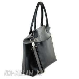 eleganckie na ramię shopper fiella - duża torba szara