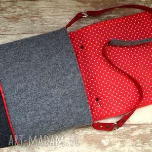 gustowne na ramię torba filcowa z haftem