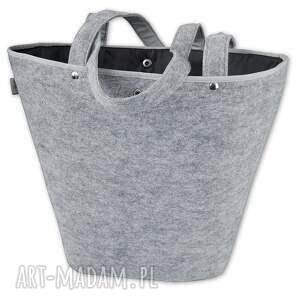 wyjątkowe na ramię torebka filcowa - koszyk szary paź