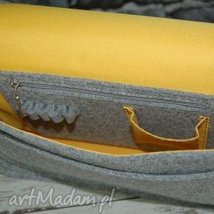 niebanalne na ramię listonoszka filcowa torebka