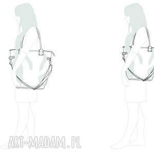unikatowe na ramię torba na wycieczki fioletowa damska