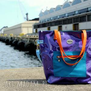 unikatowe torba damska fioletowa na ramię