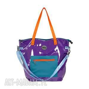 na ramię fioletowa torba damska