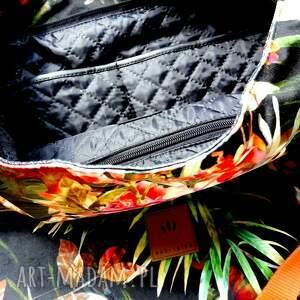 ręczne wykonanie na ramię torebkaworek flowers hobo torba