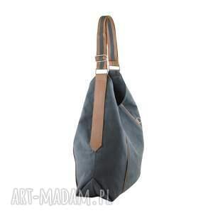 czarne na ramię wygodna furia - torba worek - szara