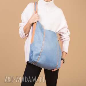 kolorowe na ramię wygodna furia - torba worek niebieska