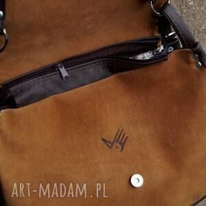 na ramię torba gruba baronowa brąz/zieleń a4