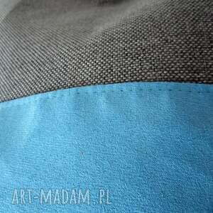 szare na ramię shopper bag duo- szarość i błękit