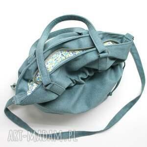 sack na ramię hobo - sakiewka tkanina