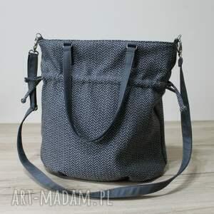 pomysł na upominek elegancka hobo sack - sakiewka tkanina