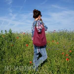 fioletowe na ramię torba iks buraczek rudy