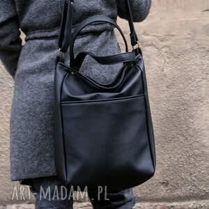 torba na ramię iks pocket czerń gładki