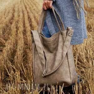 unikalne na ramię torba iks pocket vege piaskowy