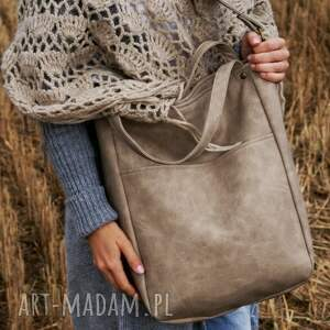 beżowe na ramię torba iks pocket vege piaskowy