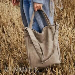 na ramię: IKS pocket vege piaskowy - torebka