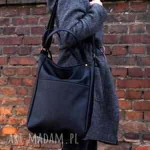 czarne na ramię torba iks pocket czerń vegan