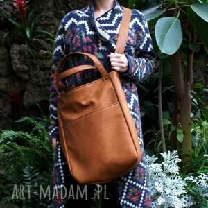 torba na ramię pomarańczowe iks pocket rudy vegan