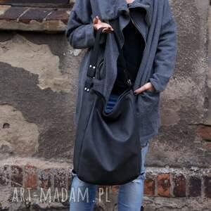 awangardowe na ramię torba iks vegan grafit czerń