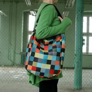 kolorowe na ramię torba iks vegan mozaika